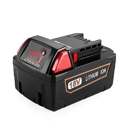 XNJTG 5.0Ah 18V Batería de Repuesto para Milwaukee M18 48-11-1850 48-11-1852 48-11-1820 48-11-1828 48-11-10 Batería de 18V Milwaukee Herramientas