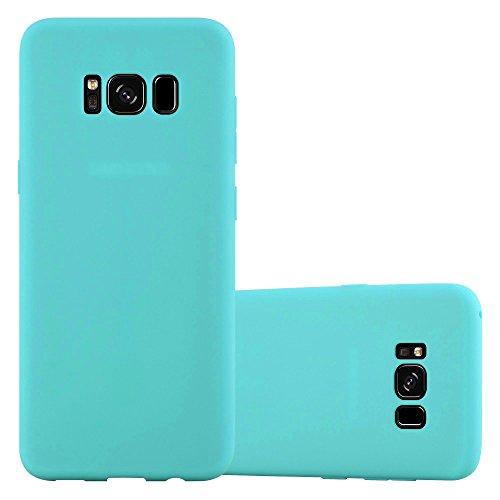 Cadorabo Hülle für Samsung Galaxy S8 in Candy BLAU - Handyhülle aus flexiblem TPU Silikon - Silikonhülle Schutzhülle Ultra Slim Soft Back Cover Case Bumper