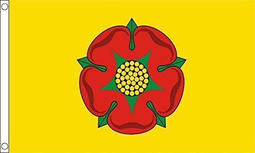 Gizzy ® Lancashire Rose Rouge 90 cm-DRAPEAU x 2 (nouveau)