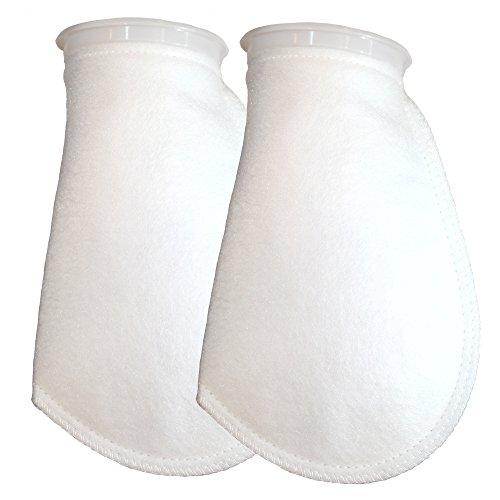 Aquatic Experts Filter Socks 200 Micron - 4 Inch Ring by 10.5 Inch Long - 2 Pack Medium - Aquarium Felt Filter Bags, Custom Made in The USA