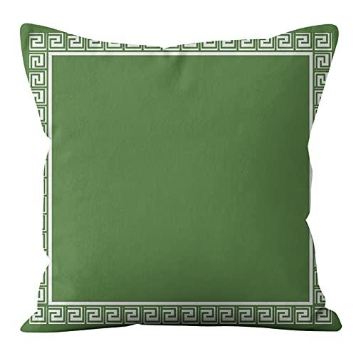 MissW Funda De Almohada Decorativa Fresh and Simple Green Series Sin Núcleo De Almohada Funda De Cojín Funda De Almohada Adecuada para Coche Sofá Silla