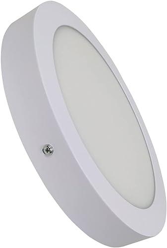 Plafonnier LED à surface ronde 20W. Couleur blanc chaud (3000K). 1800 lumens.