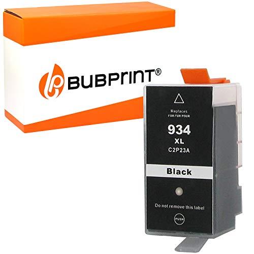 Bubprint Druckerpatrone kompatibel für HP 934XL 934 XL für OfficeJet 6800 Series 6820 6822 6825 Pro 6200 Series 6230 6235 6239 6830 6835 Schwarz Black