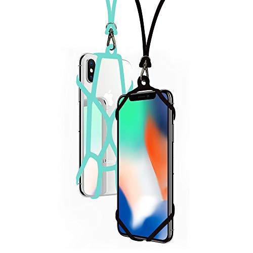 SeOSTO Handy Lanyard Hülle Strap Universal Handy Sling Umhängeband Silikon Halterung Schutzhülle mit für iPhone XS/Xs Max/XR/X/8 Plus/8/7 Plus/7/6S Plus/6S Samsung Galaxy S8/OnePlus 5/5T (Beetle)