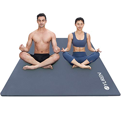RYTMAT Tappetino da Yoga Extra Largo 200 x 130cm/120cm 15mm/10mm Spessore NBR Pilates Tappeto per Ginnastica Fitness Aerobica Allenamento