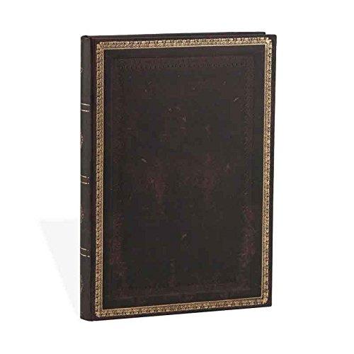 Paperblanks PB3519-0- Faux Leder schwarzes Marokkoleder - Notizbuch Midi Liniert