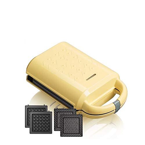 SJYDQ Molde de Horno eléctrico extraíble y Lavable de Doble Cara Calefacción sandwichera Inicio Completamente automática Fabricante de Desayuno