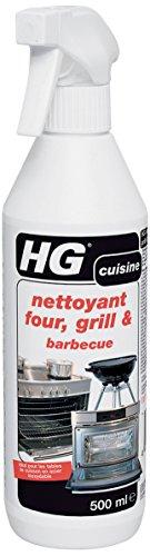 HG nettoyant four, grill & barbecue – est un nettoyant four efficace qui élimine les résidus de graisse incrustés et brûlés, 500 ml