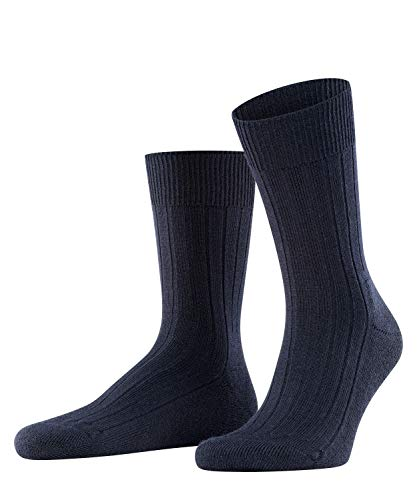 FALKE Herren Socken Teppich Im Schuh, Schurwolle, 1 Paar, Blau (Dark Navy 6370), 43-44 (UK 8.5-9.5 Ι US 9.5-10.5)
