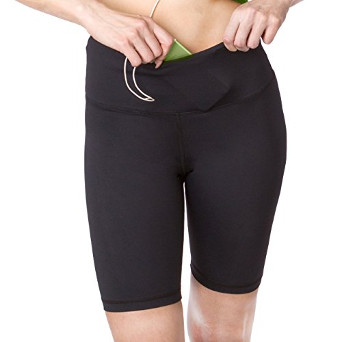 Workout Shorts for Women Active Long Shorts, Bike Running Shorts with Pockets and Tummy Control