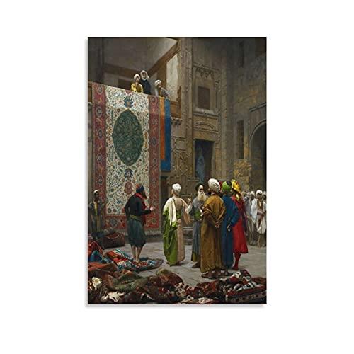 Jean-Léon Gérôme Peinture sur toile Motif marchand du tapis 50 × 75 cm