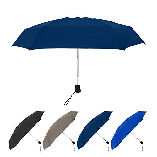 StrombergBrand Super Mini Umbrella (Compact Automatic Umbrella), Travel Umbrella Auto Open and Close Windproof Folding Umbrella, Best Small Umbrella For Everyone, Portable Umbrella, Navy Blue Umbrella