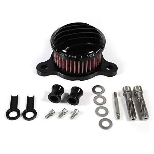 Qiilu luchtfilter aanzuigfilter systeem kit voor Harley Sportster XL883 XL1200 2004-2015 (zwart)