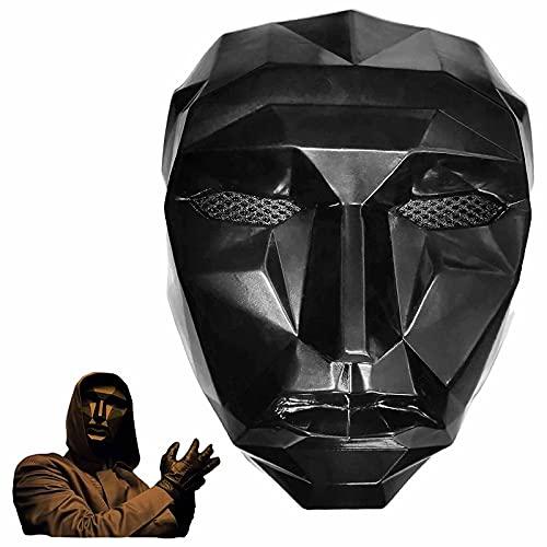 Mascarilla de juego de calamar - Masked Man Cosplay Masquerade Accesorios Halloween Props (A)