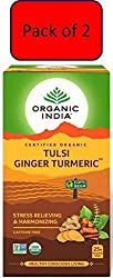 Organic tea Contains tulsi, ginger, turmeric 25 Infusion bags in a pack of 2