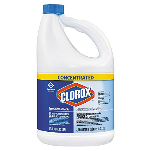 Clorox Germicidal Concentrated Liquid Bleach, 121 oz, 3 Bottles/Case (1)