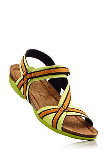 Damen Sandalen by BioStep Farbe: Orange/Grün Größe: 38