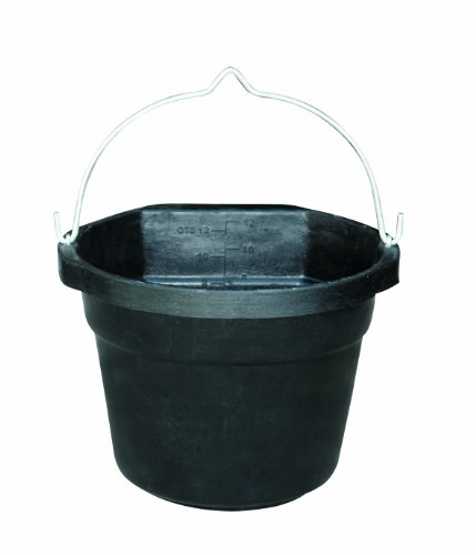 Farm Innovators Model FB-80-R Rubber 3-Gallon Flat-Back Heated Bucket, 70-Watt