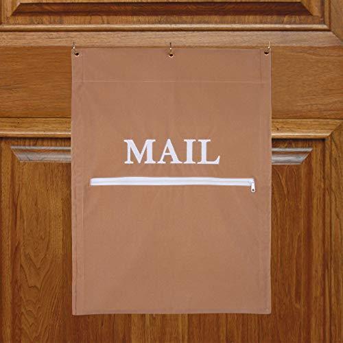 Post-Fänger für Briefschlitze, Postfänger, effizient, reduziert Zugluft für Home Office und Garagentore, Korb, Briefkäfig, Türtasche (hellbraun)