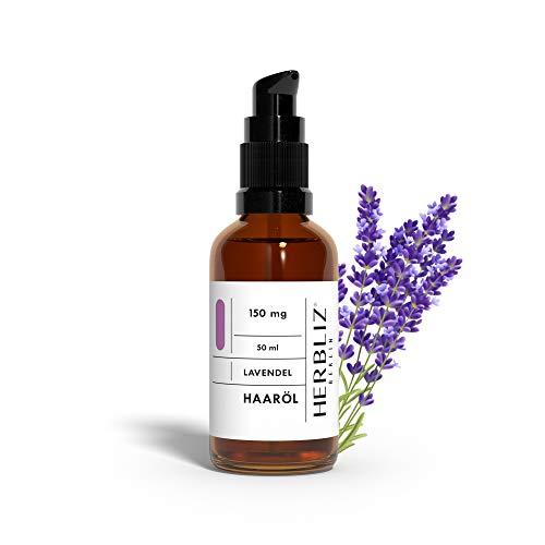 HERBLIZ Lavendel Haar-Öl mit 150mg CBD | Ätherische Öle für Natürliche Haarpflege, Sanften Finish & Haarkur für alle Haartypen geeignet | Mit Kokos-, Avocado und Mandel-Öl