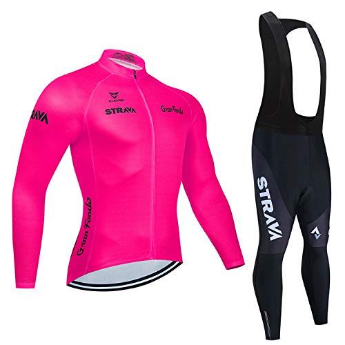 Maillot de ciclismo de manga larga + pantalones cortos de ciclismo 3D...