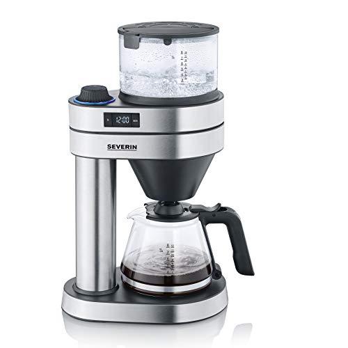 "SEVERIN KA 5760 Filterkaffeemaschine ""Caprice"", 1450, 1 Liter, Edelstahl-gebürstet/schwarz-matt"