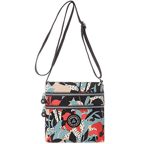 AOCINA Lightweight Medium Crossbody Bags Flowers Small Purses Handbags with Pockets for Women(Lily)