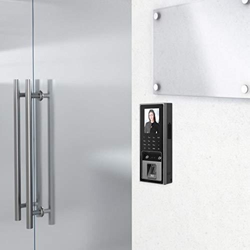 Zwinner Controlador de Acceso, Informe de Asistencia de la Tarjeta Cámaras duales de Gran Angular HD con luz de Relleno infrarroja Pantalla a Color Tft de 2,8 Pulgadas Control de Acceso RFID