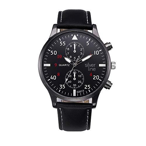 Uhren Herren Armbanduhr aus Quarz Armbanduhr im Retro Design Lederarmband Klassisch Uhr für das Festivalgeschenk,ABsoar