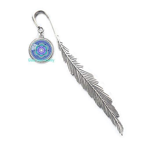 Segnalibro chakra chakra gola chakra acqua blu chakra spirituale segnalibro yoga segnalibro energia guarigione meditazione chakra yoga insegnante regalo Q0163
