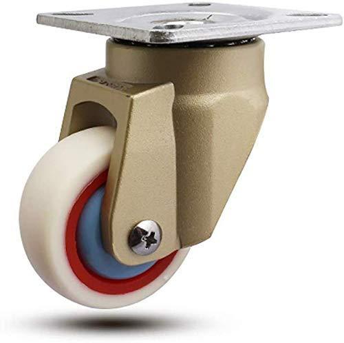 DJY-JY Ruedas de transporte industriales resistentes, 2 unidades, 50 mm, 2 ruedas giratorias horizontalmente silenciosas B-B