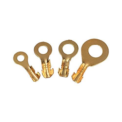 WFBD-CN Batterieklemmen Kabelschuh-Draht-Verbindungs Ungedämmtes Sortiment Kit Ringösen Ring Augen Copper Crimp Terminals