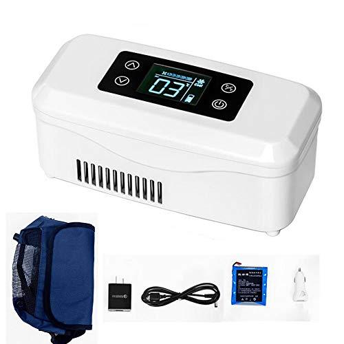 Kymzan Refrigerador De Insulina, Mini Refrigerador PortáTil De Insulina, Refrigerador De Gran Capacidad De 2-8 ° C, Refrigerador De Medicamentos, Adecuado para AutomóVil/Viaje/AvióN (209 * 99 * 90mm)