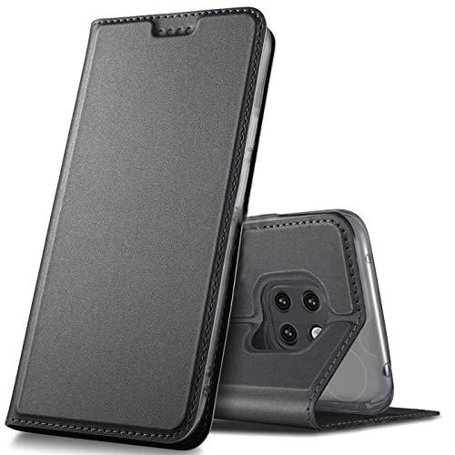 Verco Handyhülle für Mate 20 Pro, Premium Handy Flip Cover für Huawei Mate 20 Pro Hülle [integr. Magnet] Book Hülle PU Leder Tasche, Schwarz