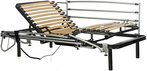 Ferlex - Cama articulada eléctrica geriátrica hospitalaria con Patas fijas | Barandillas abatibles (105x190)