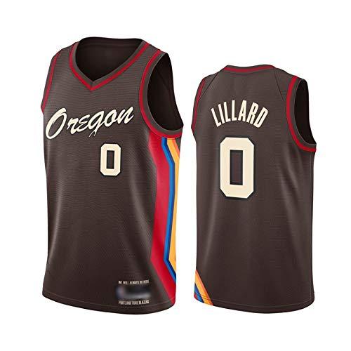Camiseta de Baloncesto para Hombre, NBA, Portland Trail Blazers #0 Damian Lillard,#00 Carmelo Anthony. Bordado, Transpirable y Resistente al Desgaste Camiseta para Fan (City edition 2021 Lillard, M)