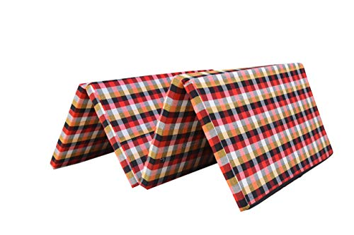 AnTiQ Single Bed Folding Pure EPE Foam Mattress for Travel, Picnic (Mattresses 2 inch Single Bed)(72x35x2