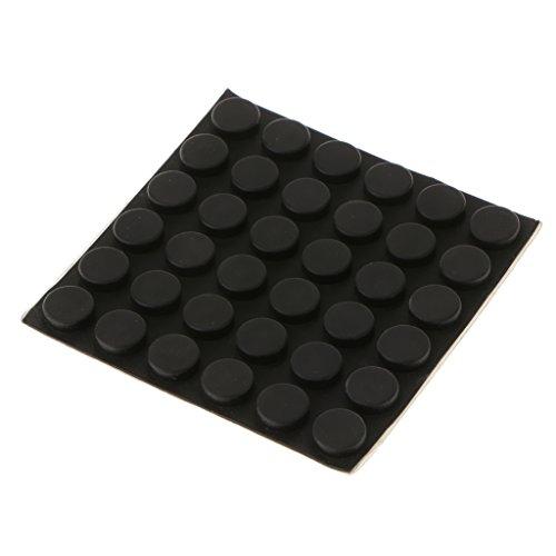 joyMerit 5 Tamaños Sonido Pequeño Negro Suave Gabinete Muebles Parachoques Protección De Piso De Madera - 15x5mm-36pcs
