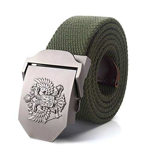 FBYDLL Cinturón Correa De Lona El Emblema Nacional Ruso Hebilla Cinturón De...