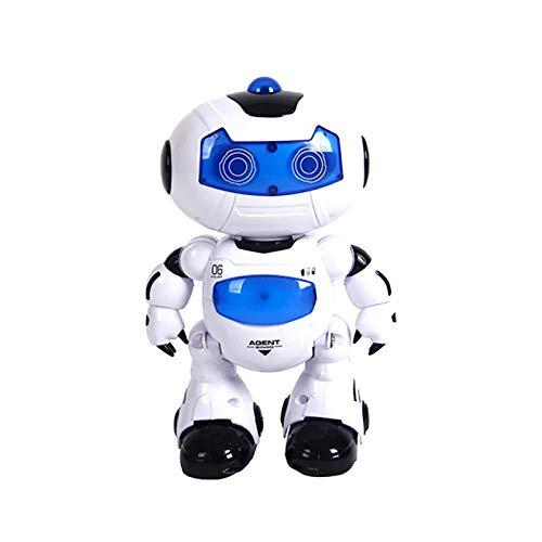 LUCKLY Kindertanzlicht Fernbedienungsroboter, RC Music & Light Fernbedienungsroboter Spielzeug Intelligentes Walking...