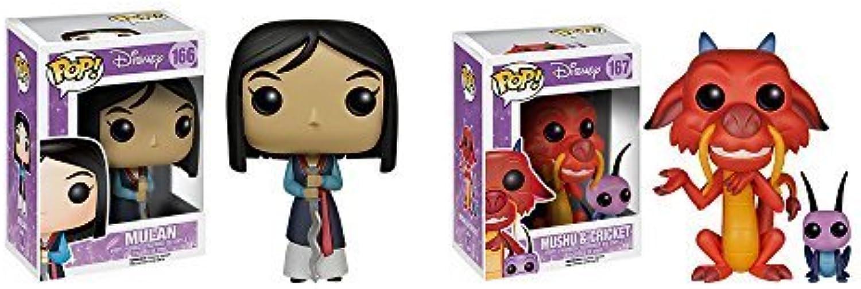FunKo Mulan Mushu & Cricket, Mulan Pop  Toy Figure Set of 2