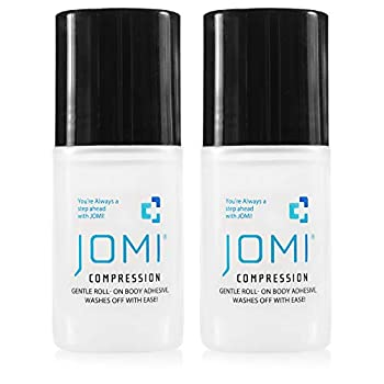 JOMI COMPRESSION Roll On Body Adhesive Sweat Resistant Washes Off With Ease 2 Ounces  2 Pack