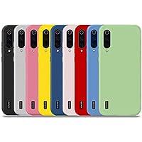 YiKaDa - 9 x Funda Xiaomi Mi A3, Cárcasa Suave Silicona TPU, Funda Ultra-Delgado Flexible Protector - [ Negro + Rojo + Azul + Rosa + Verde + Translúcido + Amarillo + Azul Claro + Blanco ]