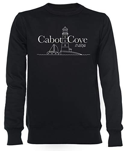 Cabot Cove, Maine - Murder She Wrote Unisexo Hombre Mujer Sudadera Negro Unisex Men's Women's Jumper Black