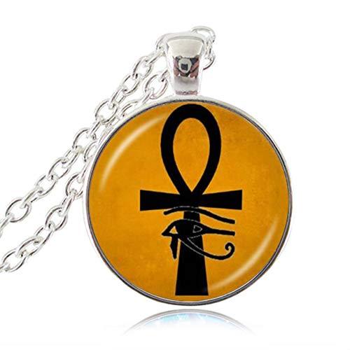 Antico Occhio Di Horus Ra Ankh Collana Croce Della Vita Ciondolo Dio Egitto Collana Di Amuleti Ward Off Evil Spirit Mummia Egizia