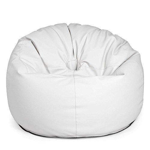 Pushbag zitzak Donut Light, Ø 90 x 75 cm, wit