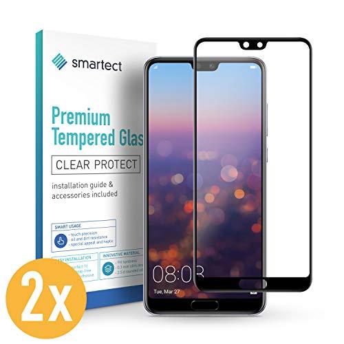 smartect Pellicola Protettiva per Huawei P20 Pro [2 PEZZI - FULL SCREEN - CLEAR] - 9H Vetro Temperato – Design Ultra Sottile – Applicazione Anti-Bolle – Anti-Impronte