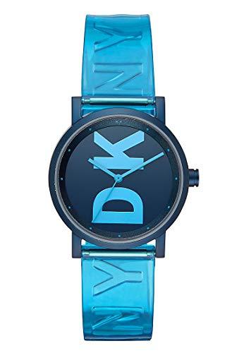 DKNY Damen-Uhren Analog Quarz One Size Blau Kunststoff 32001429