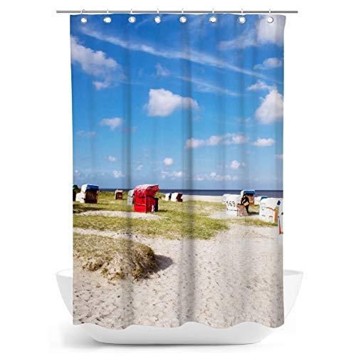 fotobar!style Duschvorhang 140 x 200 cm Strand von Schillig