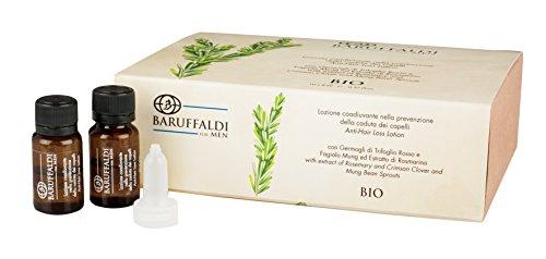 Lozione Anticaduta BIO con Estratto di Rosmarino 10 Fiale da 8 ml cad. - BaruffaldiBio for Men Made in Italy